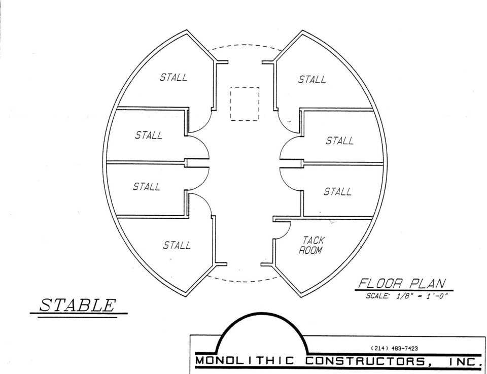 Monolithic Dome Indoor Rodeo Arenas and Horse Barns