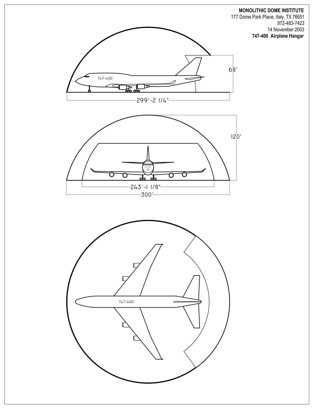 Monolithic Dome Airplane Hangars and the Invention of the