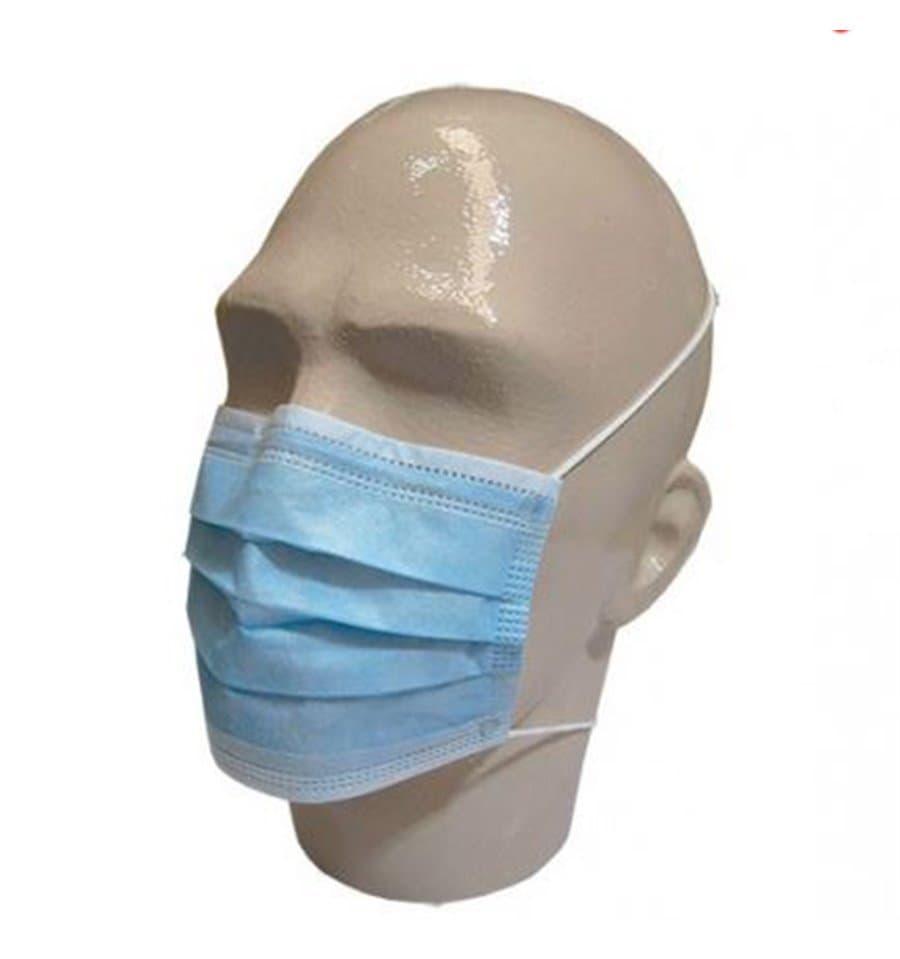 Mundschutz 3 lagig mit elastischen Ohrschlaufen Blau (1.000 Stück) - Monouso