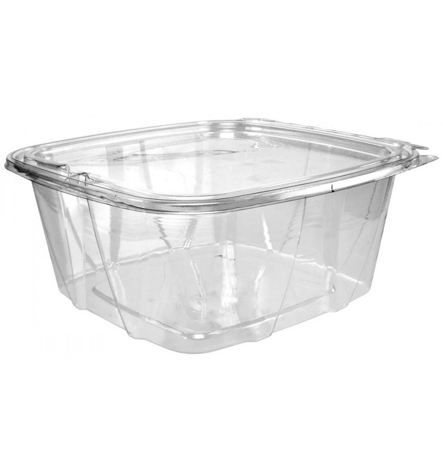 Récipient Inviolable Plastique PET Couvercle Plat 1893ml (100 Utés) - Monouso