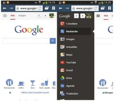 Google en page d'accueil