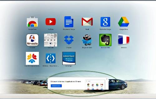 Onglet application Chrome