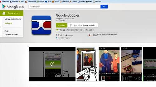 installer Google Googles