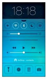 centre de controle de l'iPhone 5