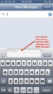 envoyer mms iphone 5