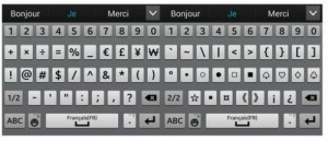 deux claviers pour les caractères speciaux