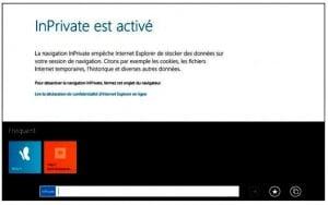 InPrivate empêche Internet Explorer de conserver des traces de vos pérégrinations sur le Web