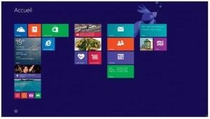 Les vignettes de l'écran d'accueil redisposées dans plusieurs groupes