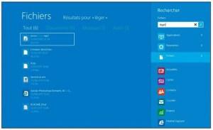 Windows a trouvé des occurrences du mot « léger » dans différents types de fichiers