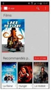 L'application Play Films