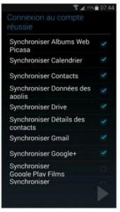 Choisir ce que vous voulez synchroniser
