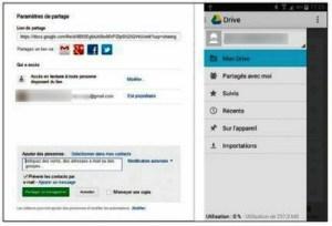 Partager des fichiers avec Google Drive