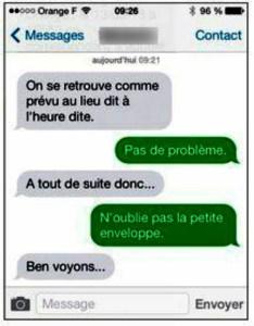 Une conversation par iMessages
