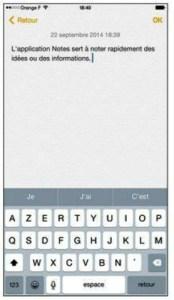 L'application Notes