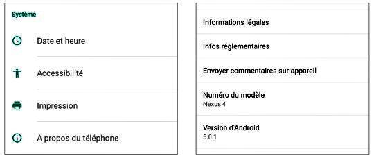 Vérifier la version Android