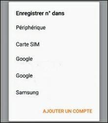 Sélectionnez votre compte Google