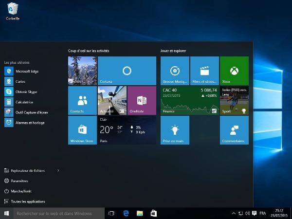 Bureau Windows 10