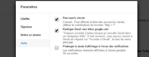 Rediriger Gmail vers Inbox google com