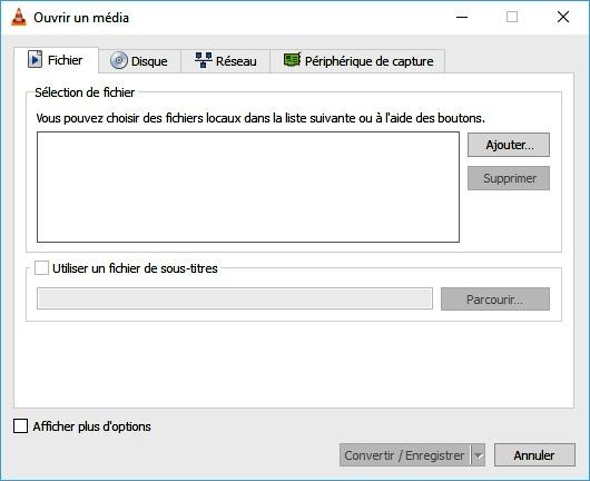 Ouvrir un fichier