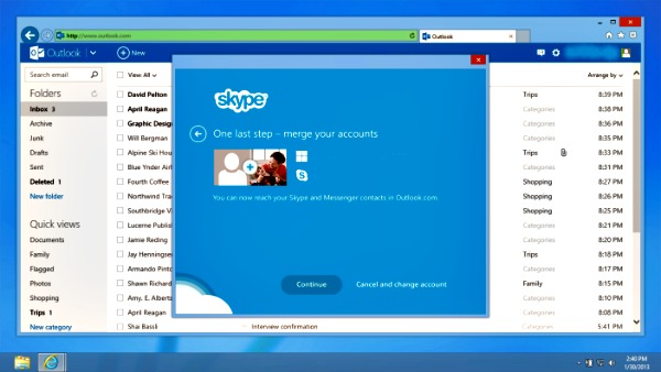Skype pour Outlook