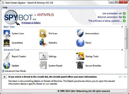Spybot -search&Destroy AV 2.4