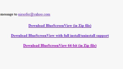 Appli BlueScreen View