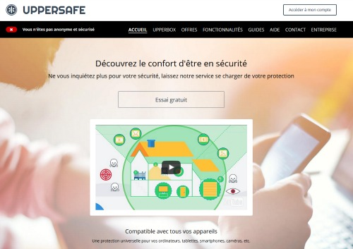VPN gratuit Uppersafe