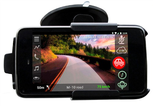 dashcam grâce à l'appli camonroad pour smartphone
