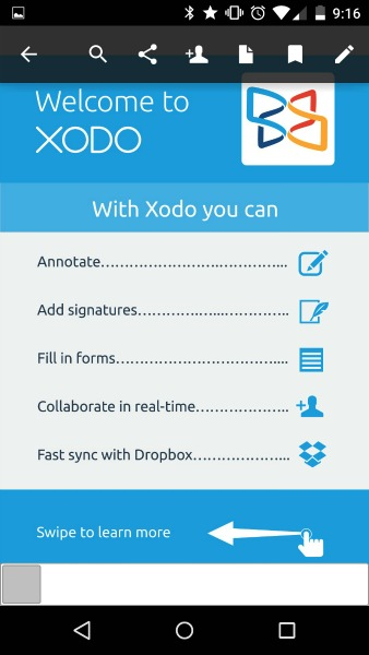 Application bureautique Xodo PDF