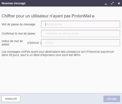 Chiffrer un mail avec ProtonMail