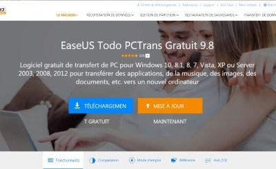 Le logiciel EaseUS Todo PCTrans
