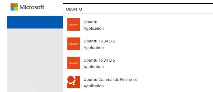 Sélectionnez la distribution Ubuntu que vous voulez installer