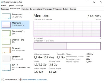 Scrutez la mémoire vive sur Windows