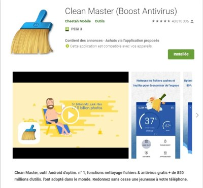 Application Clean Master