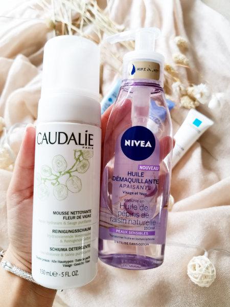 Mon peau de crème- Routine de soins acné hormonal CAudalie et Nivea- Conseils et astuces beauté