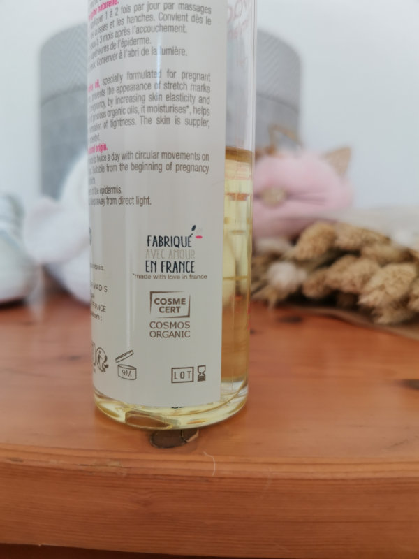 Huile vergeture certifié bio et composition 100% naturelle - Mon peau de crème