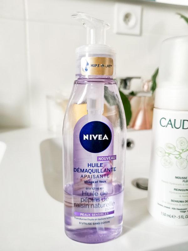 Routine à moins de 30€ - Produits de soins pas cher - Mon peau de crème - Huile démaquillante Nivea