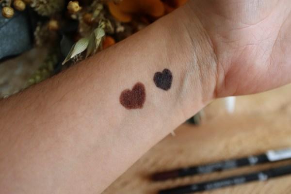 Test et avis - crayons yeux marrons et noir - bio et vegan - Avril cosmétique - Mon peau de Crème