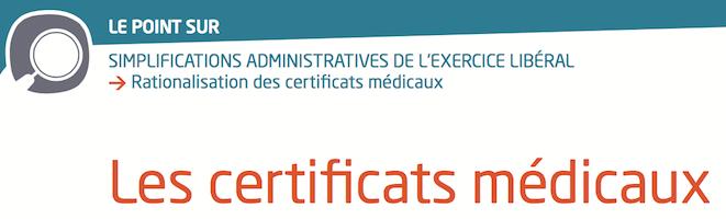 Le certificat médical de sport, les autres certificats