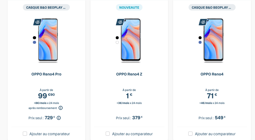 The Oppo Reno 4 Series From 1 3 Month At Bouygues Archyde