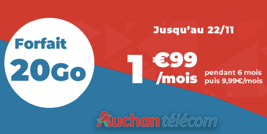 20 Go Auchan mobile package offer
