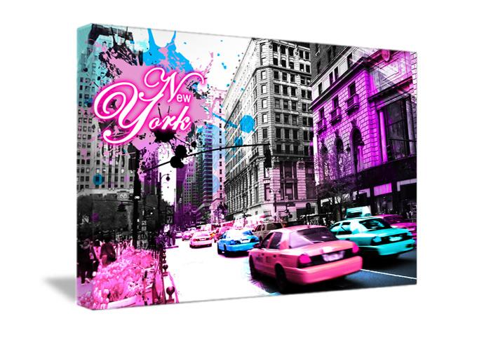 tableau decoration street pink de new york