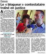 Le blogueur en justice - Le Parisien