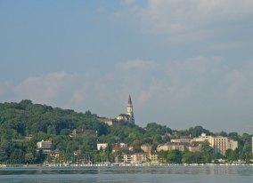 Lac d'annecy - vue Basilique Visitation