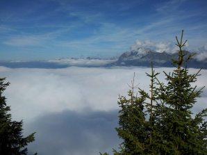 Lac de nuages depuis le Charbon