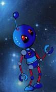 Robot looks up
