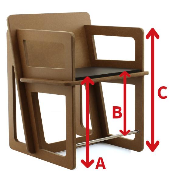 mesure pour realiser une chaise