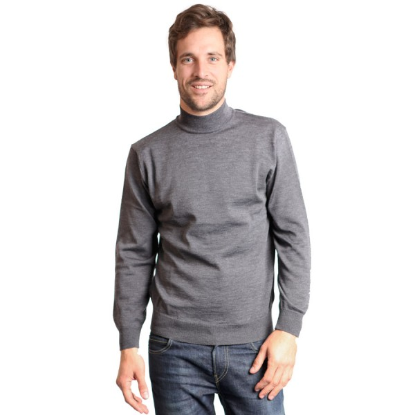 pull col cheminee gris armorlux