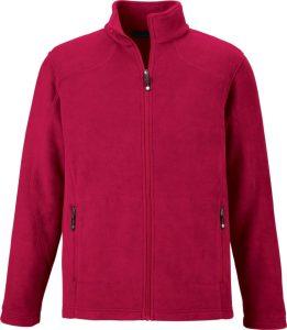 veste polaire rouge
