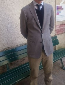 blazer sur mesure Tailor Trucks gris chino